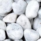Bianco Carrara Rundkiesel